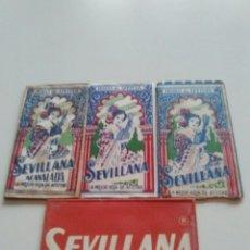Antigüedades: SEVILLANA, 4 HOJAS AFEITAR CON VARIANTES.. Lote 119475946