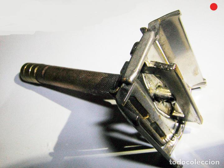 Antigüedades: MAQUINILLA GILLETTE ANTIGUA MADE IN USA - Foto 5 - 119486751