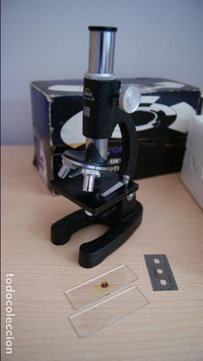 MICROSCOPIO EIKOW TOKIO JAPAN Nº 350 DE 100 X 200X Y 300 X (Antigüedades - Técnicas - Instrumentos Ópticos - Microscopios Antiguos)