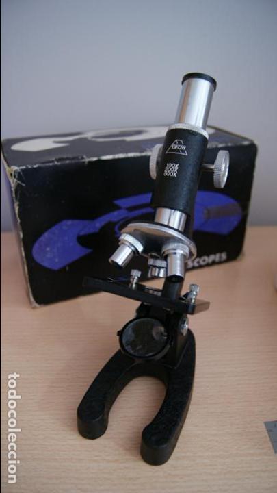 Antigüedades: Microscopio EIKOW Tokio Japan nº 350 de 100 x 200x y 300 x - Foto 4 - 119527995