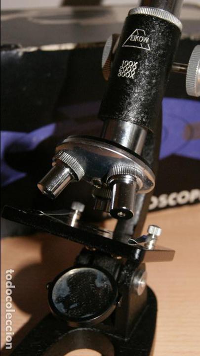 Antigüedades: Microscopio EIKOW Tokio Japan nº 350 de 100 x 200x y 300 x - Foto 5 - 119527995