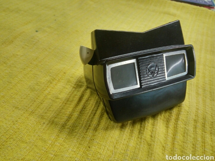 Antigüedades: Estereoscopio tridimensional marca VIEW-MASTER, hecho en baquelita anterior años 1940, y, 2 discos . - Foto 2 - 119590079