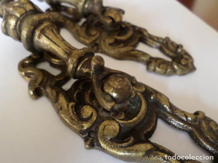 Antigüedades: TIRADORES DE BRONCE - Foto 7 - 234695855