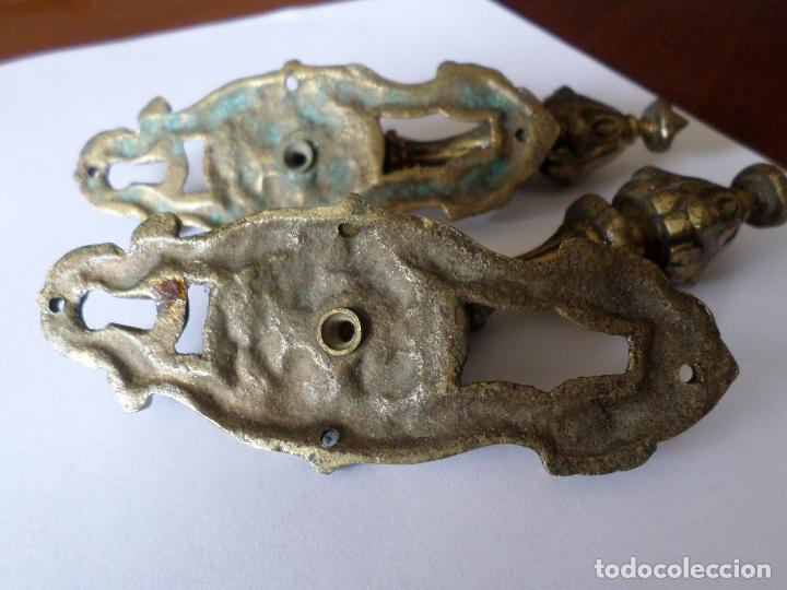 Antigüedades: TIRADORES DE BRONCE - Foto 9 - 234695855