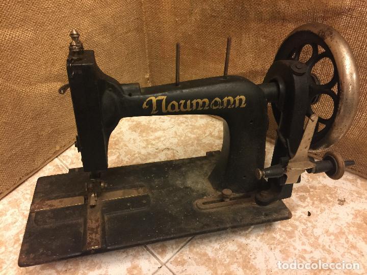 Antigua maquina de coser naumann. muy curiosa, - Vendido