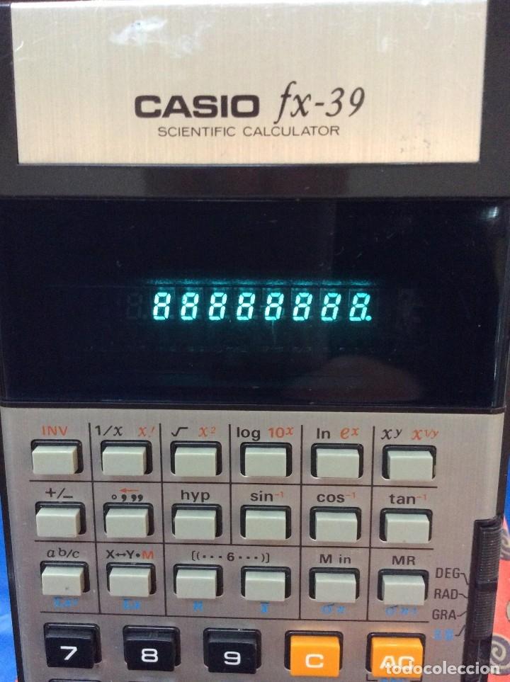 CALCULADORA CASIO FX 39 VINTAGE (Antigüedades - Técnicas - Aparatos de Cálculo - Calculadoras Antiguas)