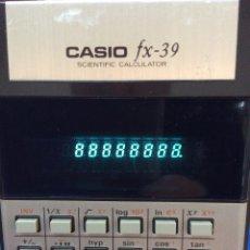 Antigüedades: CALCULADORA CASIO FX 39 VINTAGE. Lote 82294200