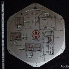 Antigüedades: REGLA DE CALCULO CIRCULAR-ASCENSORES ASA. Lote 119885319