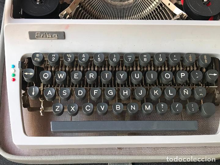 Antigüedades: maquina de escribir erika en maleta - funcionando - ver fotos - Foto 4 - 119897955