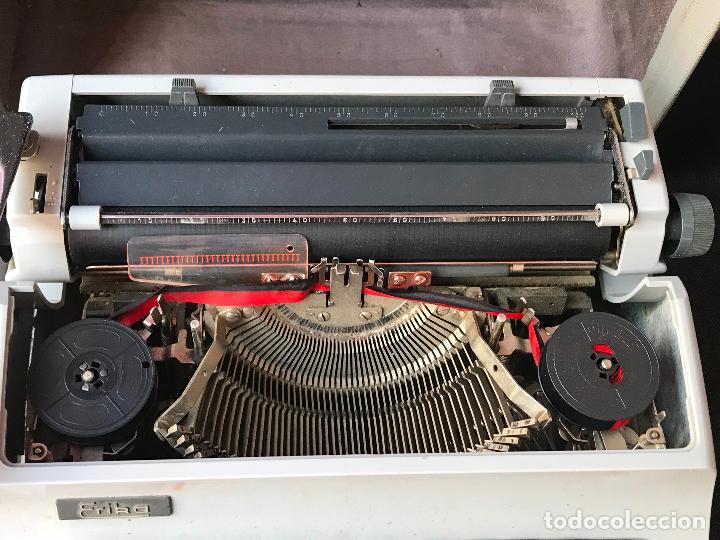Antigüedades: maquina de escribir erika en maleta - funcionando - ver fotos - Foto 5 - 119897955