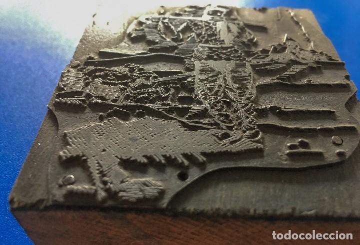 Antigüedades: ESPECTACULAR PLANCHA METALICA DE IMPRENTA FELICITACION DE NAVIDAD CON PASTOR Y OVEJAS - Foto 2 - 119946323