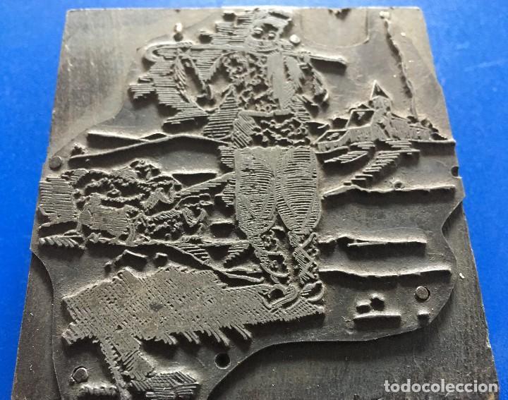 Antigüedades: ESPECTACULAR PLANCHA METALICA DE IMPRENTA FELICITACION DE NAVIDAD CON PASTOR Y OVEJAS - Foto 8 - 119946323