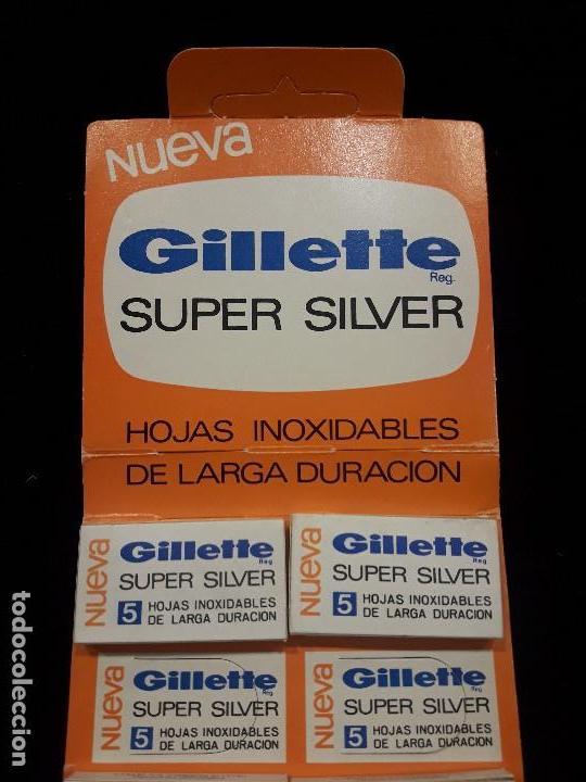 Antigüedades: displey hojas de afeitar gillette - Foto 2 - 119947719