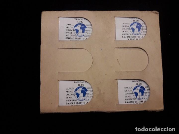 Antigüedades: displey hojas de afeitar gillette - Foto 5 - 119947719