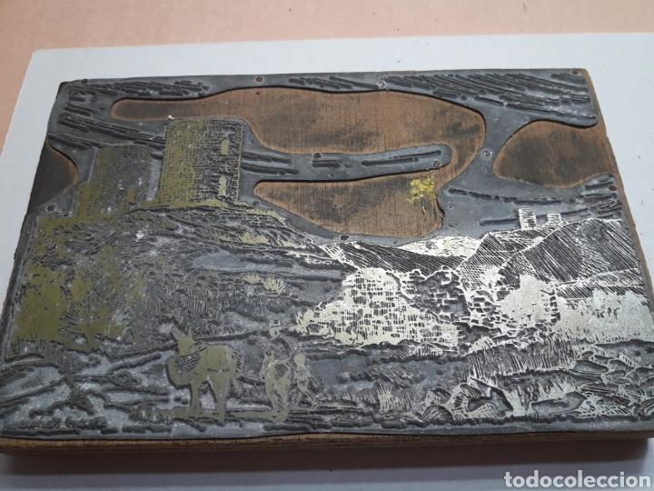 TAMPÓN METÁLICO IMPRENTA ANTIGUO FIRMADO POR ARTISTA (Antigüedades - Técnicas - Herramientas Profesionales - Imprenta)