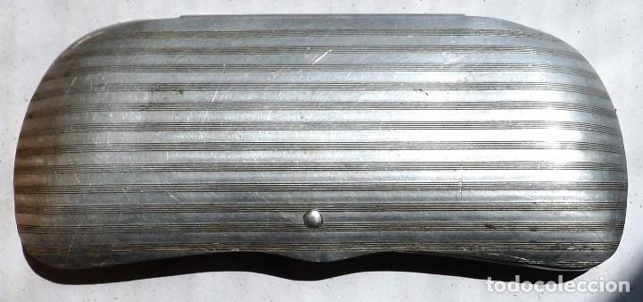 CAJA PARA GAFAS DE ALUMINIO AÑOS 30 (Antigüedades - Técnicas - Instrumentos Ópticos - Gafas Antiguas)