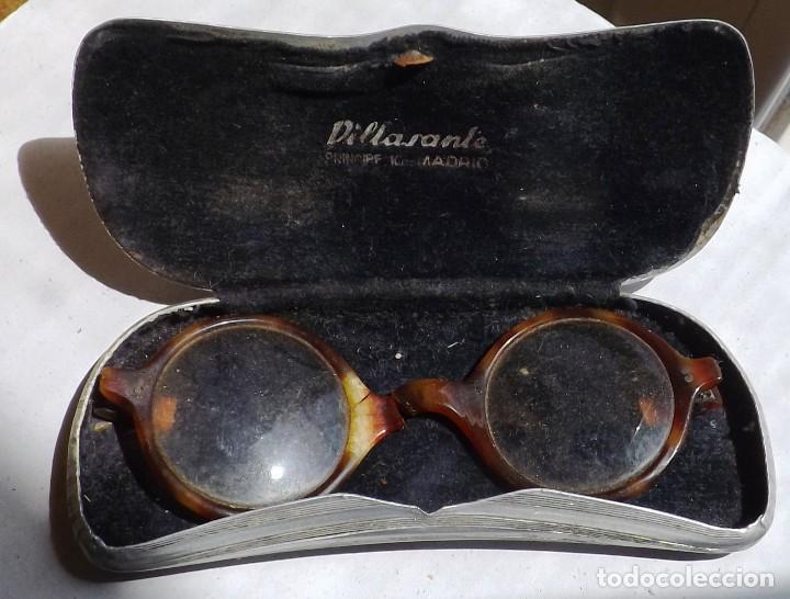 Antigüedades: caja para gafas de aluminio años 30 - Foto 3 - 120098607