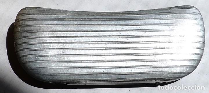 Antigüedades: caja para gafas de aluminio años 30 - Foto 4 - 120098607