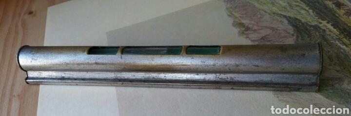 Antigüedades: Nivel en hierro y vidrio - Foto 2 - 120106303