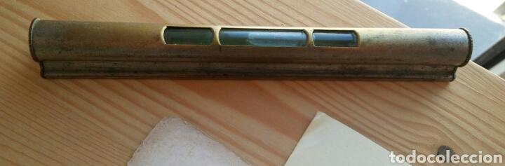 Antigüedades: Nivel en hierro y vidrio - Foto 3 - 120106303