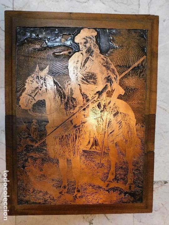 Antigüedades: PLANCHA ANTIGUA DE COBRE PARA IMPRENTA [GRANDE] REJONEADOR DE CAMPO - Foto 2 - 120154927