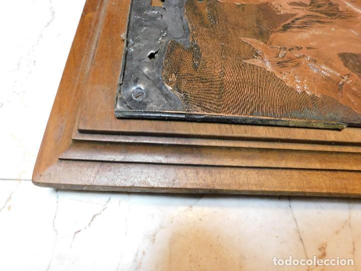 Antigüedades: PLANCHA ANTIGUA DE COBRE PARA IMPRENTA [GRANDE] REJONEADOR DE CAMPO - Foto 4 - 120154927