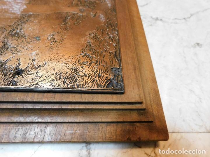 Antigüedades: PLANCHA ANTIGUA DE COBRE PARA IMPRENTA [GRANDE] REJONEADOR DE CAMPO - Foto 5 - 120154927