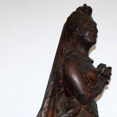 Antigüedades: MASCARON DE BARCO EN MADERA TALLADA DEL SIGLO XIX. POSIBLEMENTE DE ESCUELAS COLONIALES. Lote 120316687