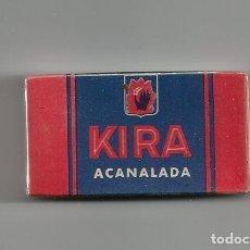 Antigüedades: CAJA 10 HOJAS AFEITAR *KIRA ACANALADA* - PRECINTADA. Lote 120366539
