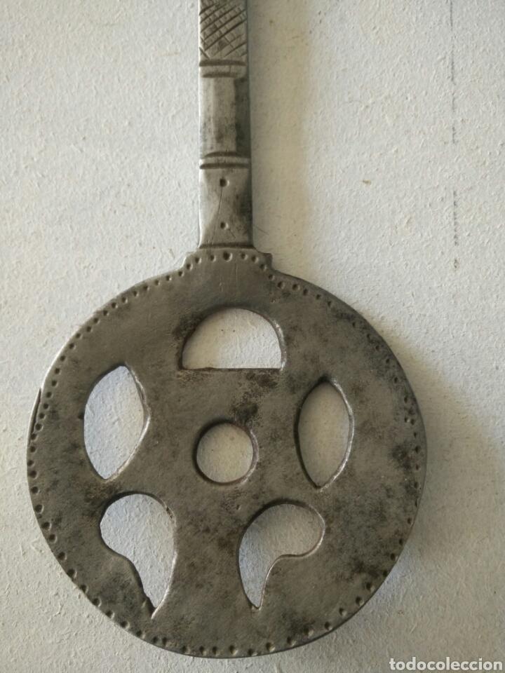 Antigüedades: Espumadera de forja muy antigua - Foto 3 - 120535347