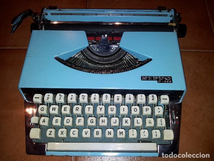 MÁQUINA DE ESCRIBIR NIPPO P-200 FUNCIONANDO (Antigüedades - Técnicas - Máquinas de Escribir Antiguas - Otras)