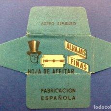 Antigüedades: HOJA DE AFEITAR ANTIGUA-ALHAJAS FINAS-ACERO SEMI-DURO (DESCRIPCIÓN). Lote 110282675
