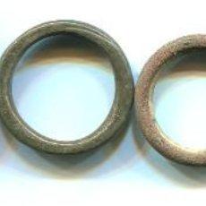 Antigüedades: 6 PONDERALES, AROS DE BRONCE, 7,3 - 6,6 - 5,3 - 4,1 - 4,5 - 3,6 G. DIAMETROS DE 21 A 28 M/M. Lote 120845647