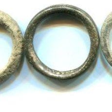Antigüedades: 5 PONDERALES AROS DE BRONCE, DE 6,3 -5 - 4,7 - 3,9 - 2 9 G, PESOS DE 22 A 26 N/N. Lote 120846059