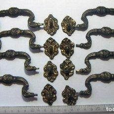 Antigüedades: LOTE DE 8 TIRADORES . Lote 120867263