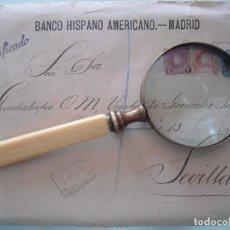 Antigüedades: ANTIGUA LUPA MANGO DE MARFIL. Lote 120959187