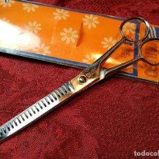 Antiquitäten - tijeras peluquero vaciado cabello...marca miuso solingen años 80...nuevas sin uso - 120966127