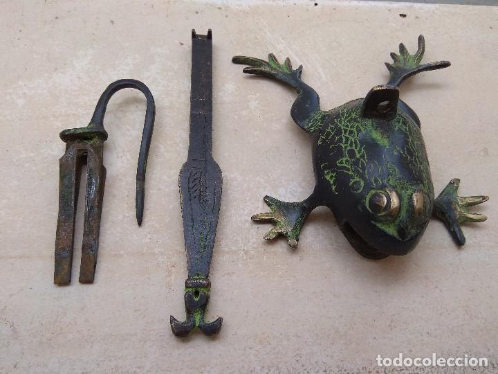 Antigüedades: Candado con Forma de Rana - Foto 6 - 121031375