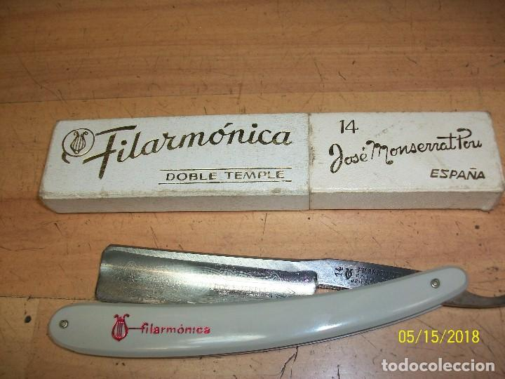 NAVAJA-FILARMONICA 14-JOSE MAONSERRAT POU (Antigüedades - Técnicas - Barbería - Navajas Antiguas)
