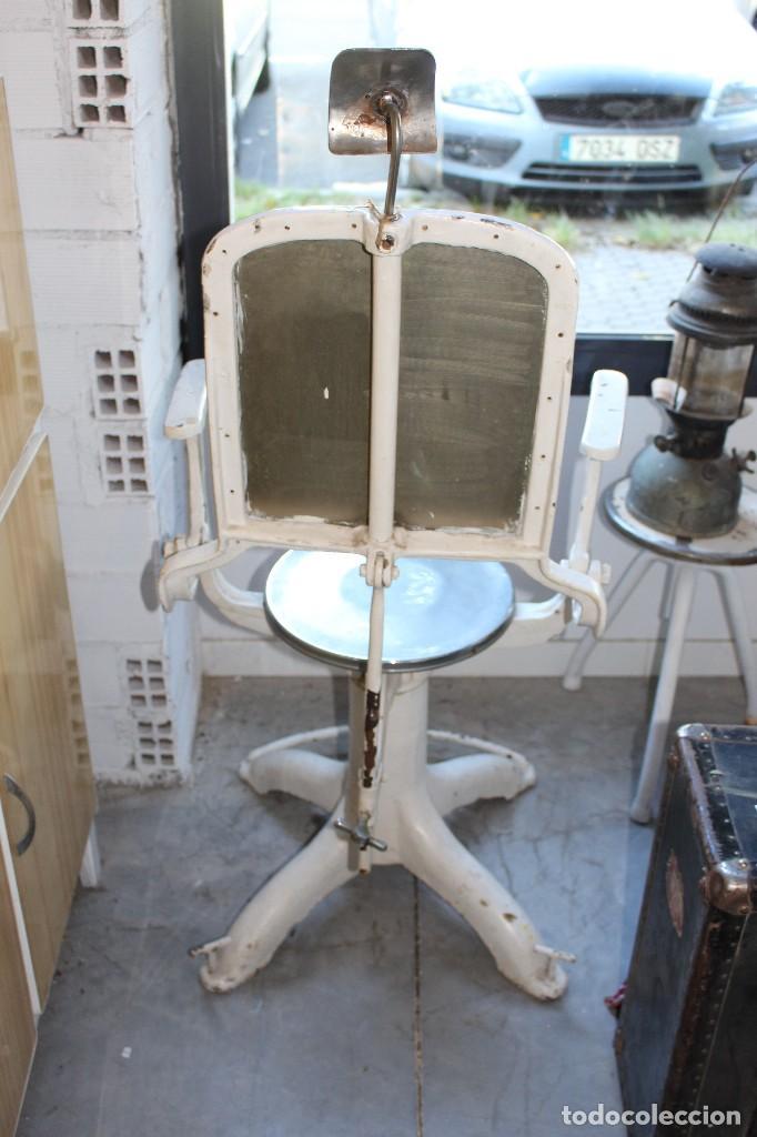 Antigüedades: sillón medico de hierro fundido y acero. industrial años 20 - Foto 5 - 121128075