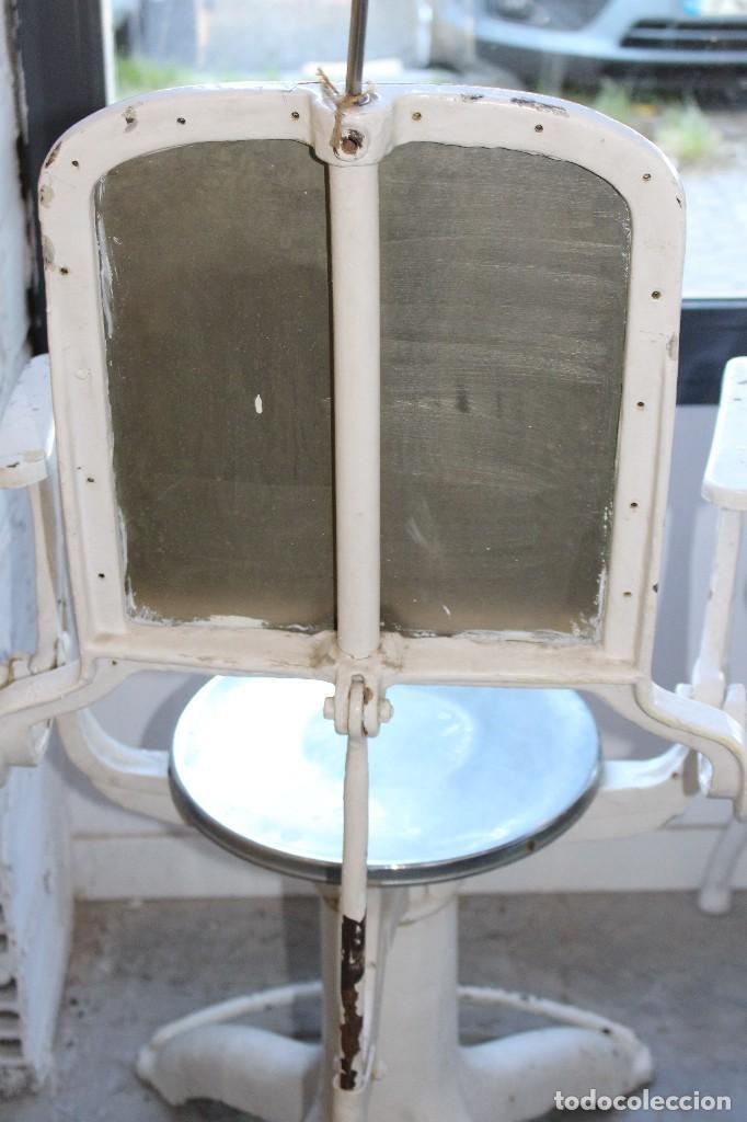 Antigüedades: sillón medico de hierro fundido y acero. industrial años 20 - Foto 7 - 121128075