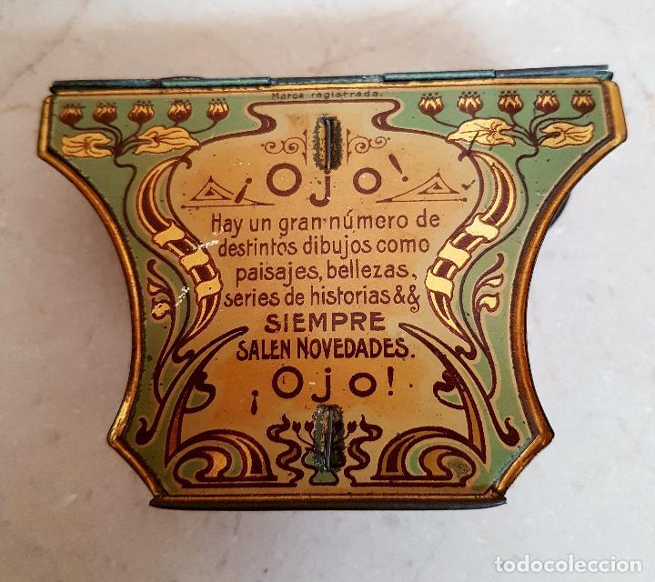 Antigüedades: ANTIGUO APARATO ESTEREOSCOPICO PUBLICITARIO DE LATA LITOGRAFIADA IMPERIAL,PLEGABLE Y LOTE DE VISTAS - Foto 5 - 121178387