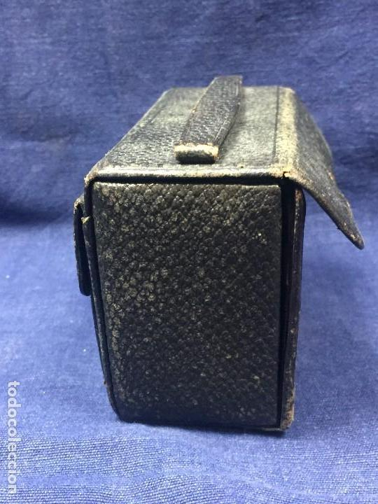 Antigüedades: neceser estuche caballero viaje barbería piel negro espejo interior bolsillo exterior ppio s xx - Foto 2 - 121231395