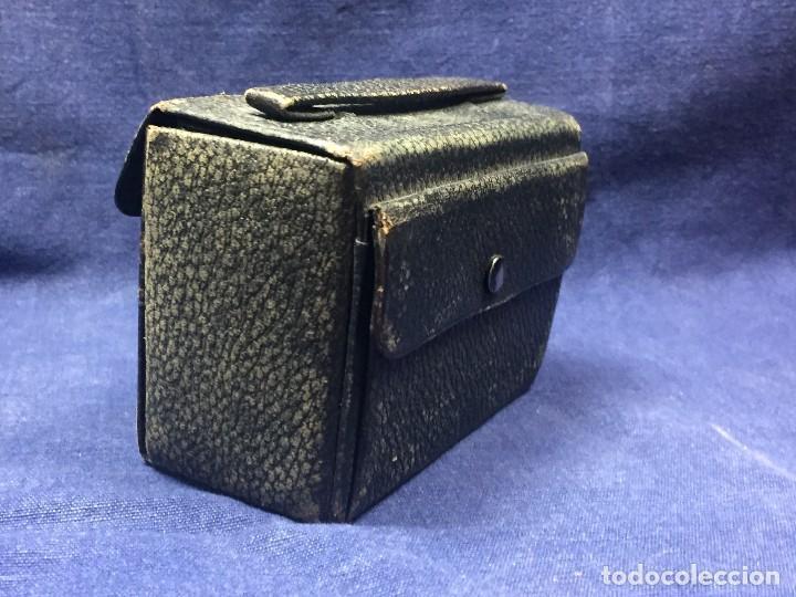 Antigüedades: neceser estuche caballero viaje barbería piel negro espejo interior bolsillo exterior ppio s xx - Foto 4 - 121231395