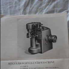 Antigüedades: ANTIGUA HOJA PUBLICITARIA.MAQUINA DE COSER GRAN VELOCIDAD.TEXTIMA.REGULAR KLASSE 70.DEUTSCHER INNER. Lote 121292195