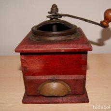 Antigüedades: ANTIGUO MOLINILLO DE CAFÉ EN MADERA Y METAL.. Lote 121420167