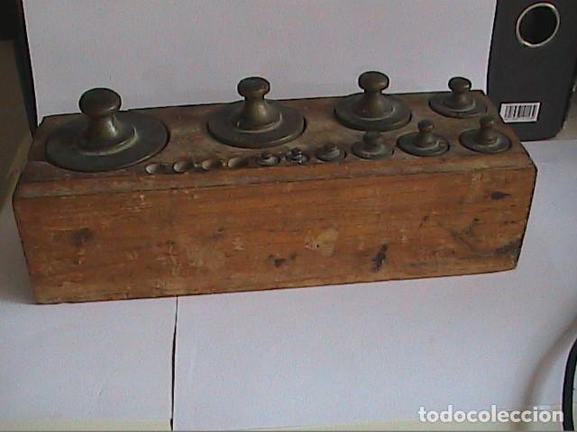 Antigüedades: LOTE DE 10 PONDERALES ESPAÑOLES DE PRINCIPIOS S.XIX. ENSAYADOR SP Y PUNZÓN DE LEÓN RAMPANTE. - Foto 9 - 121453703