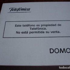 Teléfonos: TELEFONO DE PARED DOMO 2 - NUEVO CON PLANTILLA DE MONTAJE Y INSTRUCCIONES EN SU CAJA ORIGINAL. Lote 121461759