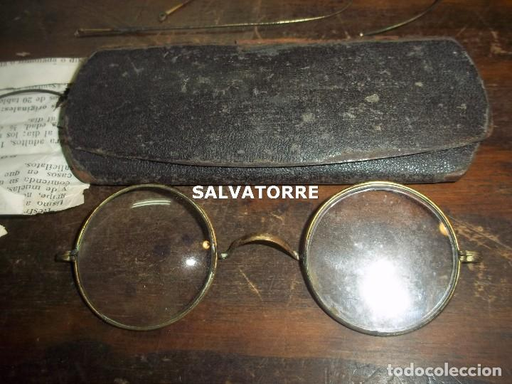 GAFAS ANTIGUAS CON CAJA. (Antigüedades - Técnicas - Instrumentos Ópticos - Gafas Antiguas)