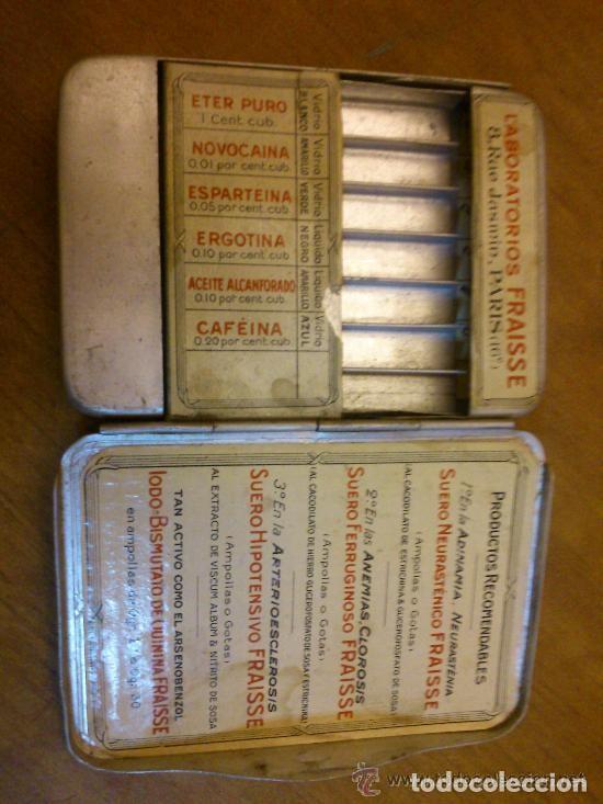 Antigüedades: CAJA MUY ANTIGUA DE URGENCIA MEDICA MUY RARA BONITA ORIGINAL - Foto 2 - 121622879